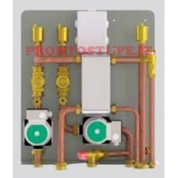 kit C termocamino abbinato a caldaia a gas, con sanitario