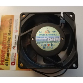 Ventilatore assiale 80 x 80 x 38 mm 230 Volt 0.10 A